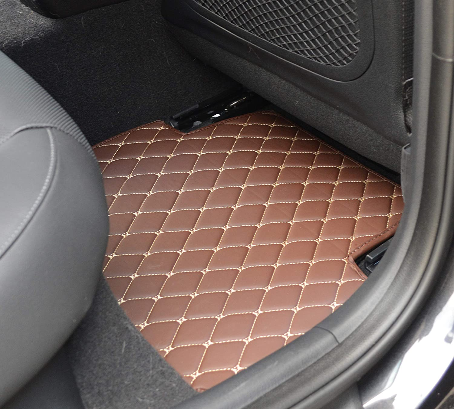 Custom Fit Made in USA Front and Rear All Weather Heavy Duty Full Coverage Floor Mat Floor Protection for 2018 2019 2020 Honda Accord Sedan Accord Hybrid Black Single Layer