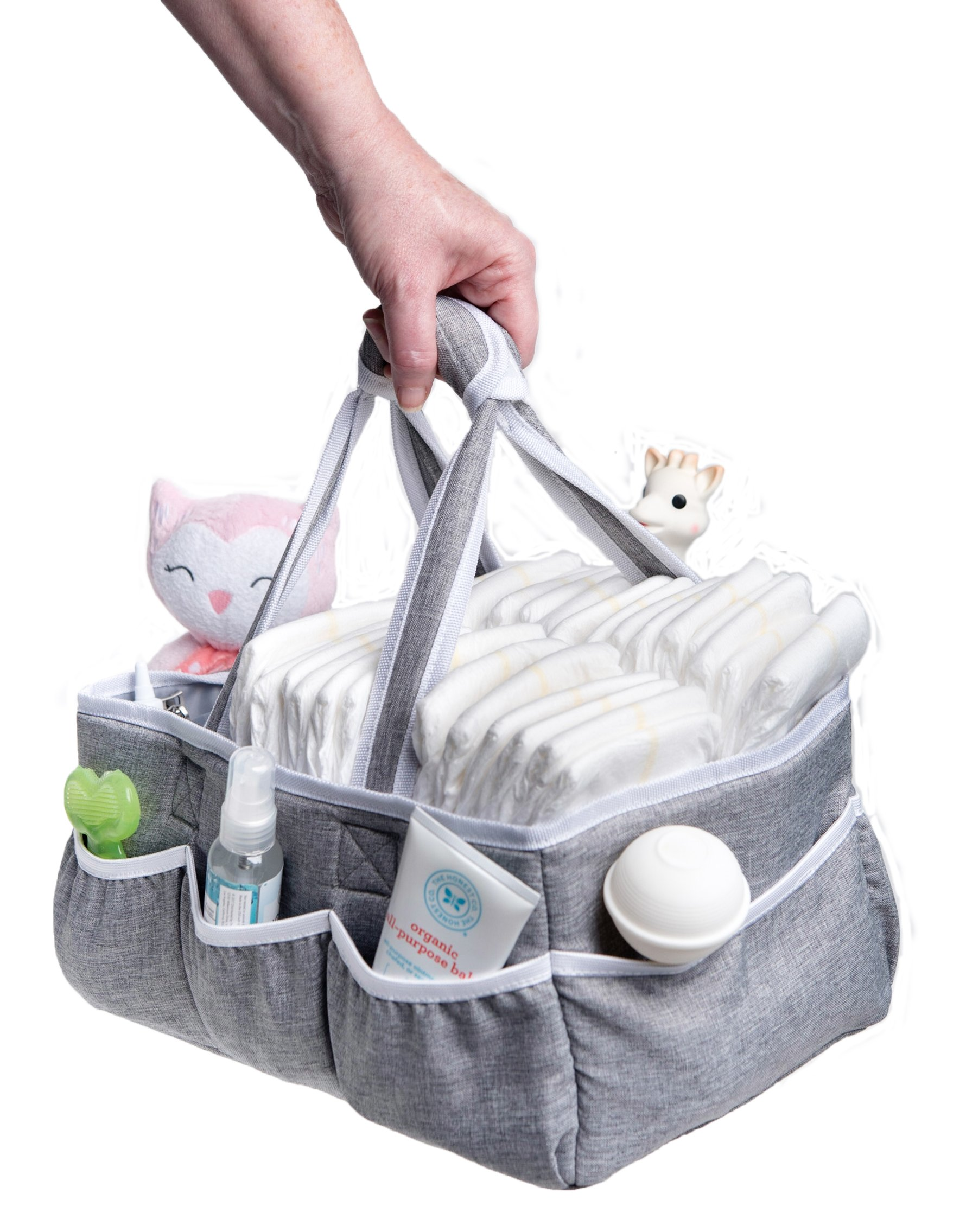 Wallaby Diaper Caddy Storage Bin - Organizer for Diapers, Wipes, Baby Bottles and More. Great for Home, Car, Travel or a Baby Shower Gift. by Bed Buddy (Image #5)