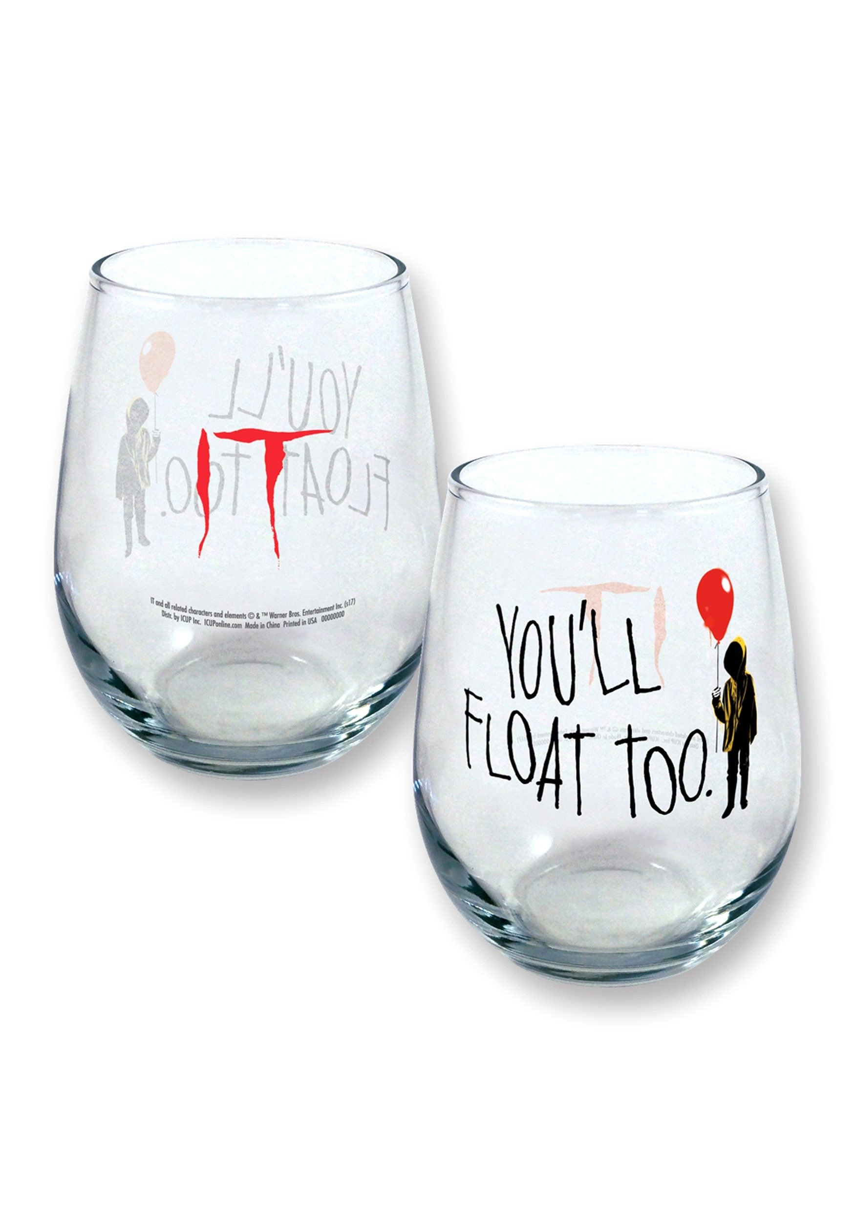 It You'll Float Too 21 oz Stemless Wine Glass Standard