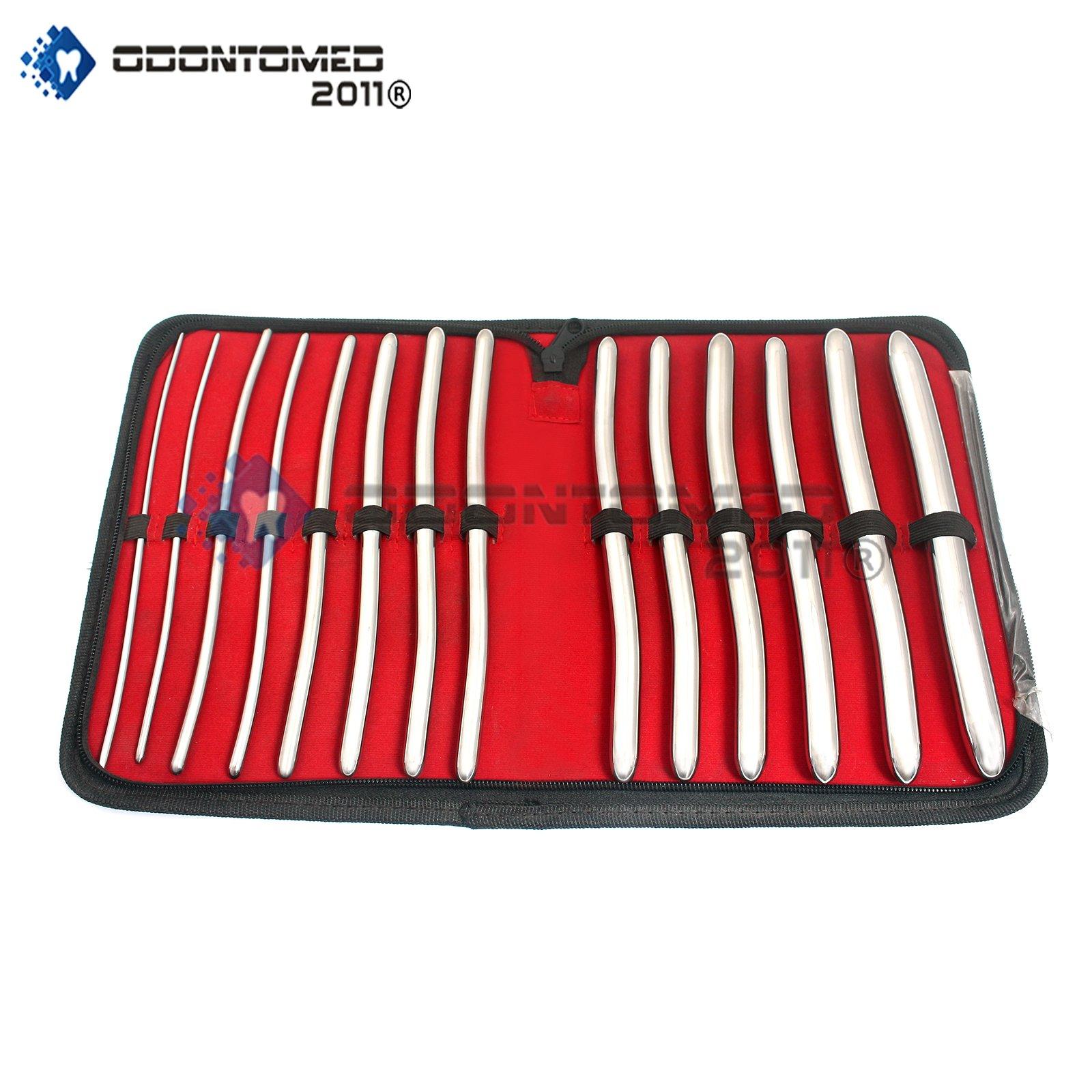 OdontoMed2011 HEGAR 14 Pieces URETHRAL Sounds KIT, Surgical Steel URETHRAL Dilator Set, HEGAR Sound KIT ODM