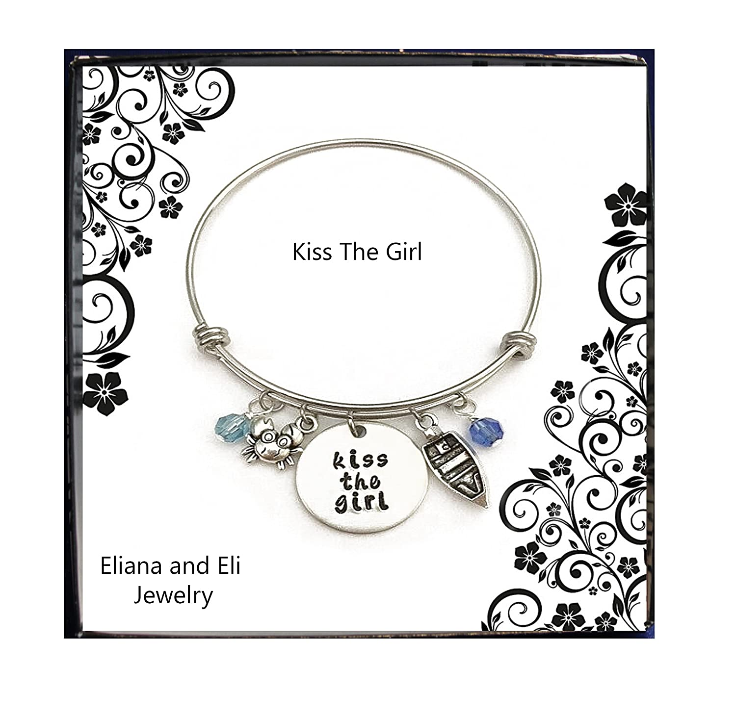Movie and TV Costume Jewelry Message Charm Expandable Wire Bracelet Birthday Mother Daughter Friendship Gifts