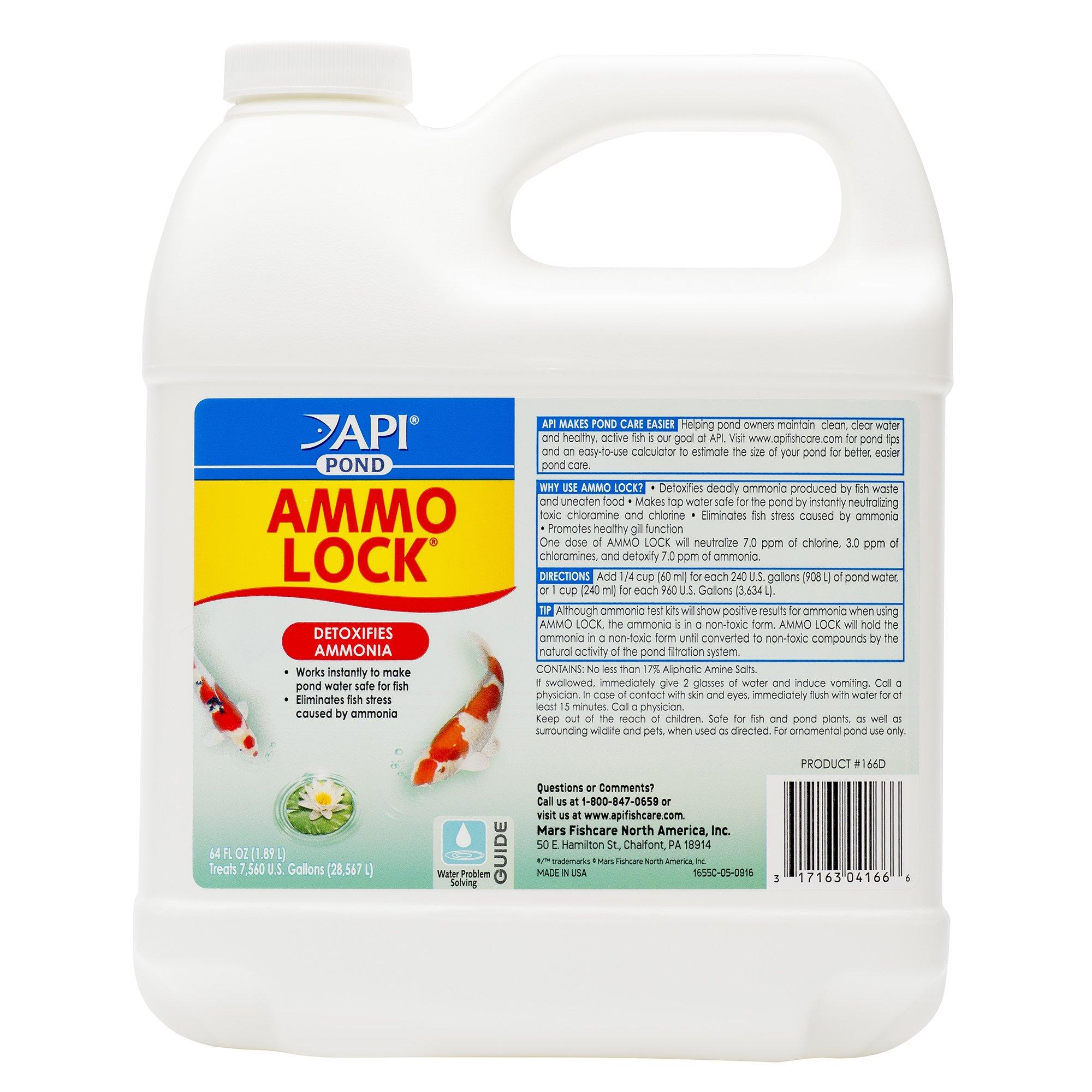 Aquarium Pharmaceuticals Pondcare Ammo-lock Ammonia Rem 64 Ounces - 166D by Aquarium Pharmaceuticals