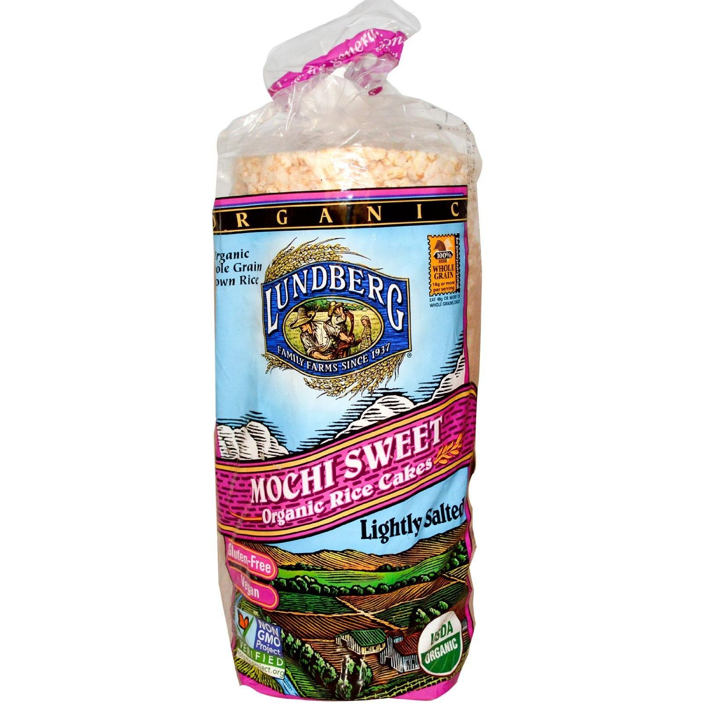Lundberg Organic Mochi Sweet Rice Cakes 8.5oz (Pack of 3)