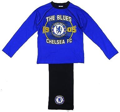 NEW Official Authentic Boys Chelsea FC Badge Pyjamas pajamas 4 to 12 Football