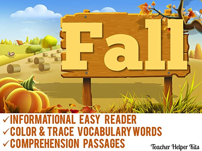 Fall Reading Comprehension Tracing Vocabulary First Grade Worksheets