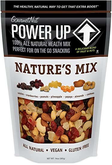 Power Up Trail Mix, Nature's Mix Trail Mix, Non-GMO, Vegan, Gluten Free, No  Artificial Ingredients, Gourmet