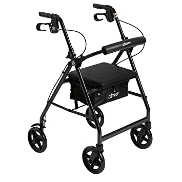 amazon drive medical r728bk aluminum rollator with fold up and Active Sitting image unavailable