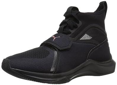 PUMA Womens Phenom Wn Sneaker Black Black 10 M US