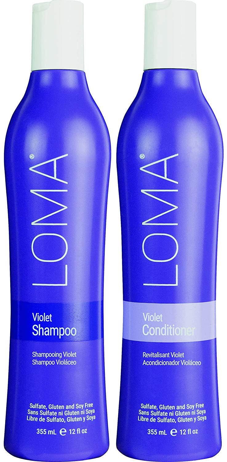 Loma Hair Care Violet Shampoo Violet Conditioner Duo