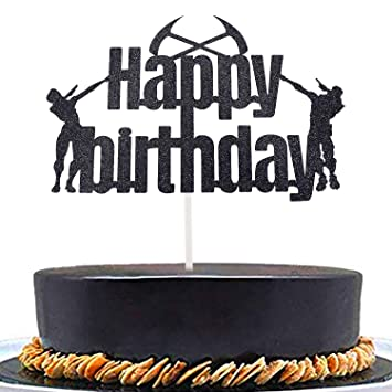 Gaming Happy Birthday Cake Topper For Video Game Party Supplies