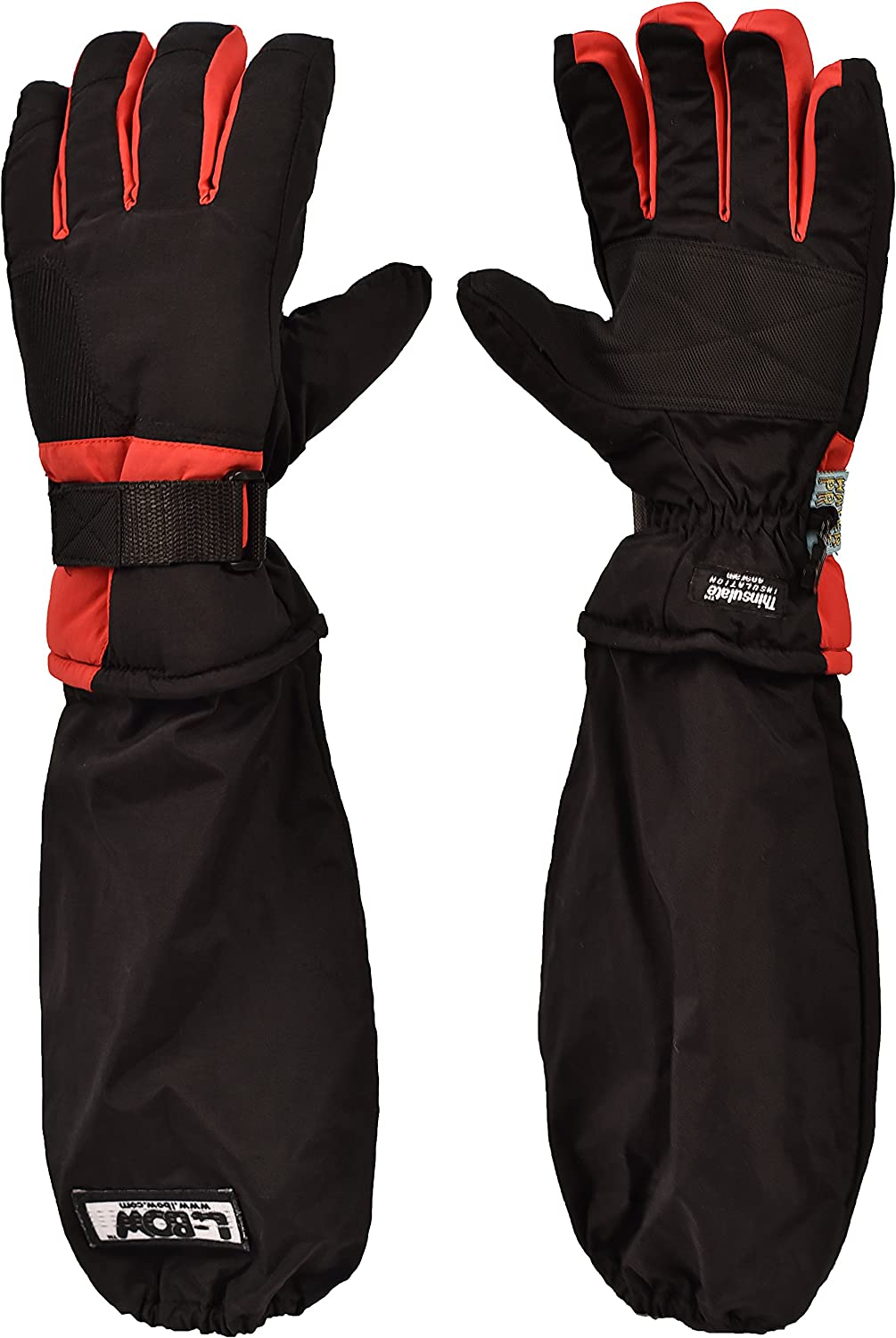 L-Bow Boys Sportster Waterproof 3M Thinsulate Glove Large, Black//Gray
