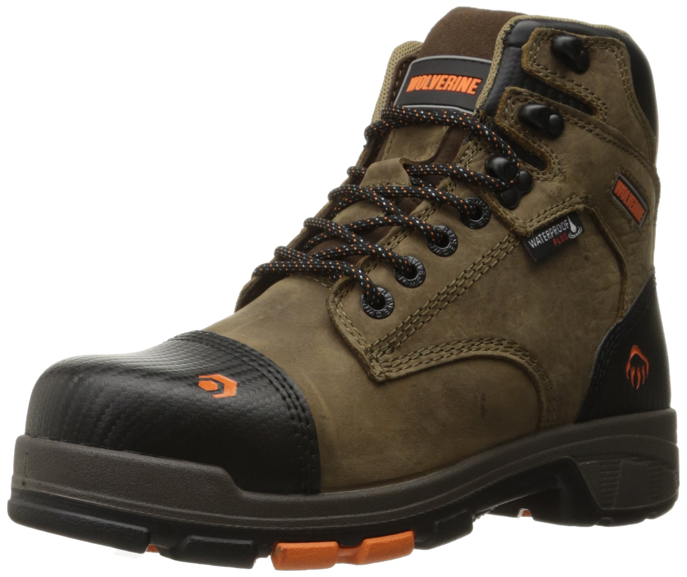 Wolverine Men's Blade LX Waterproof 6'' Comp Toe Work Boot, Chocolate Chip, 10.5 M US