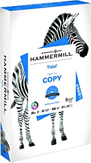 product image for Hammermill Printer Paper, 20 lb Tidal Copy Paper, 8.5 x 14-1 Ream (500 Sheets) - 92 Bright, Made in the USA