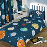 Solar System Space Rocket Single Duvet Cover and Pillowcase Set