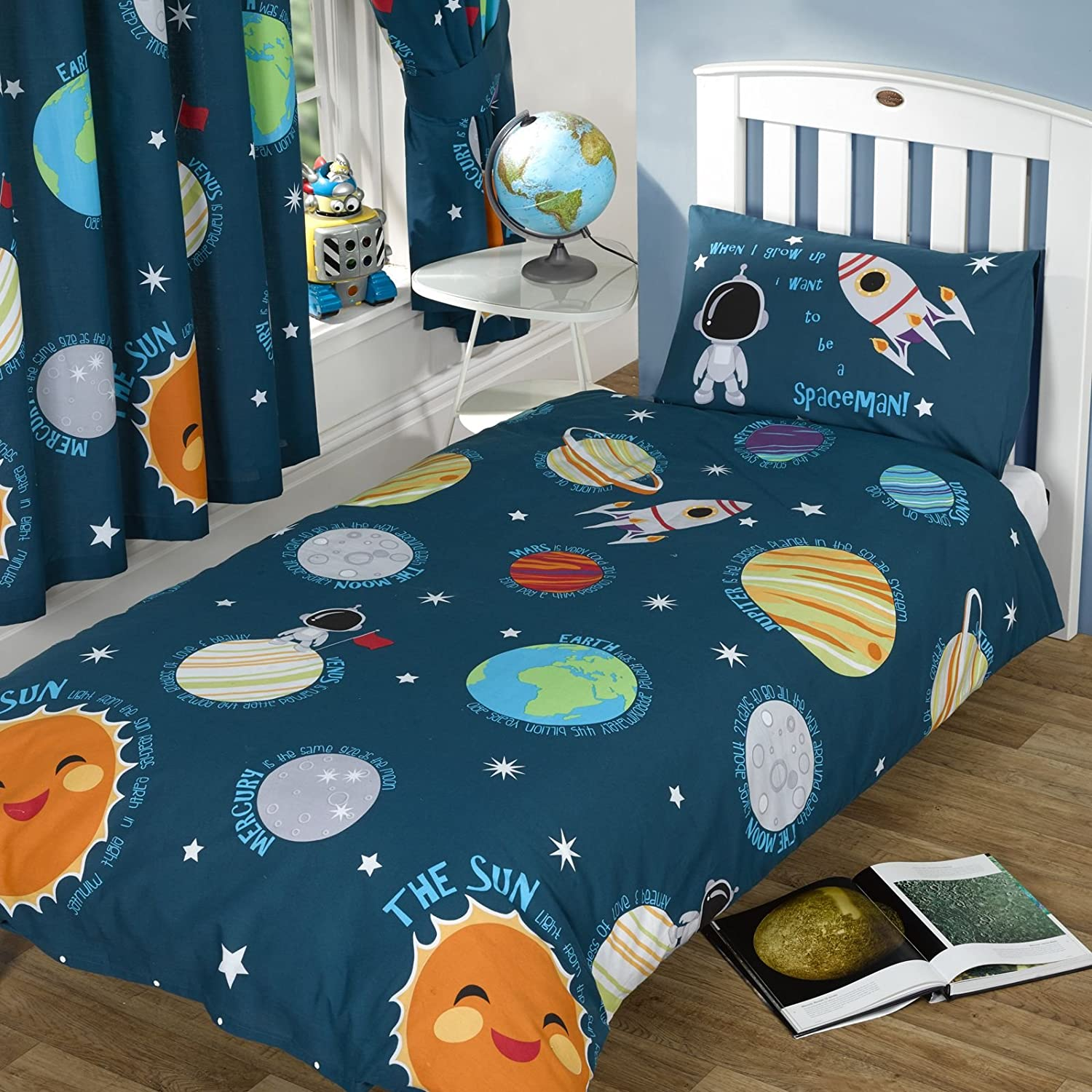 Rapport Solar System Single Duvet Cover + Matching 66