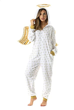 Amazon.com   followme Adult Christmas Onesie for Women Jumpsuit One-Piece  Pajamas  Clothing c4b77cb26
