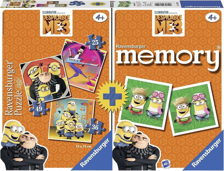 Ravensburger Minions Multipack Memory + 3 Puzzles, GRU, Mi Villano Favorito (21309): Amazon.es: Juguetes y juegos