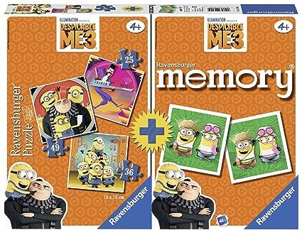 Amazon.com: Ravensburger - Multipack Memoria + 3 Puzzles ...