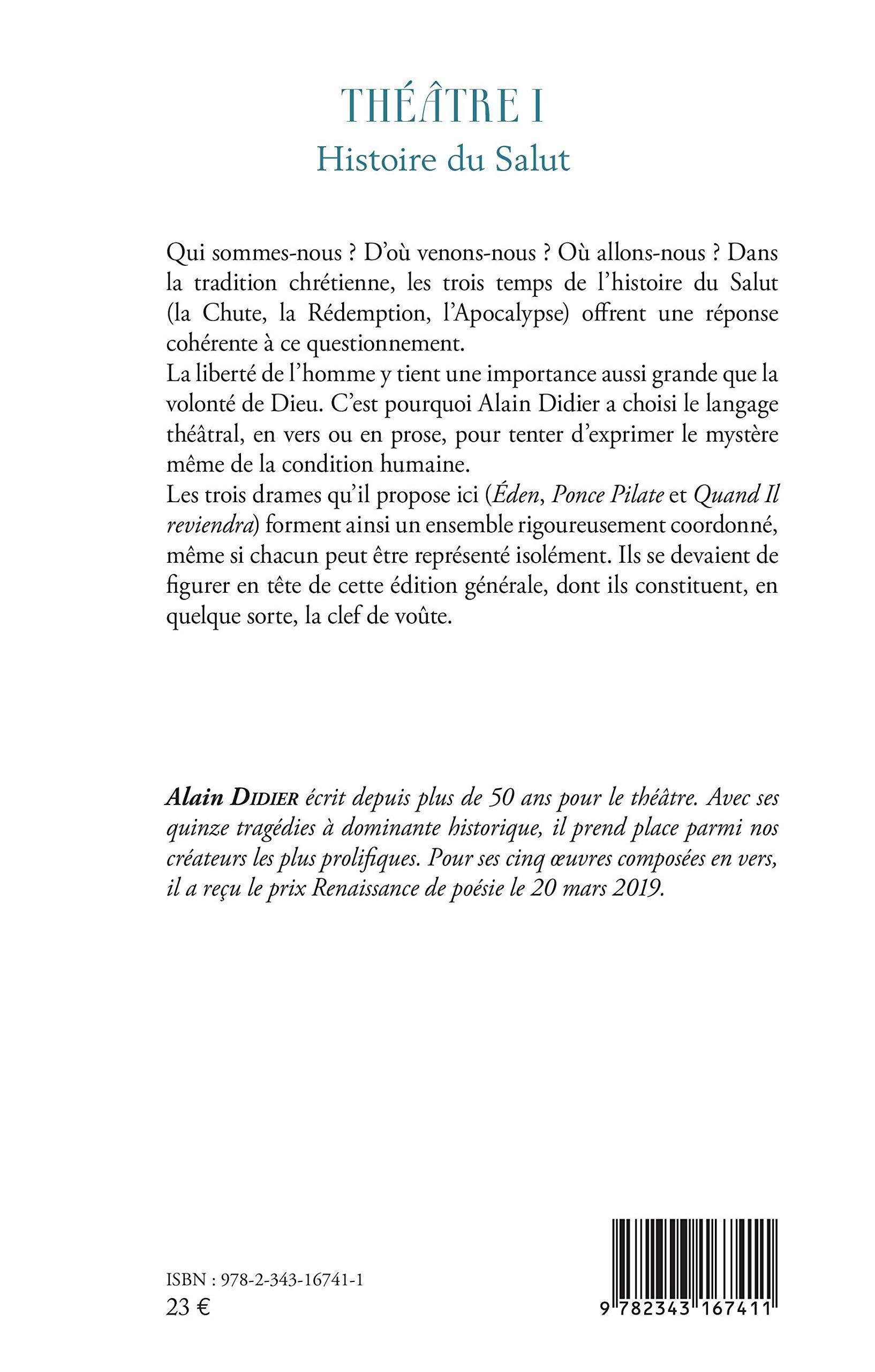 Amazoncom Théâtre I Histoire Du Salut éden Ou La Grande