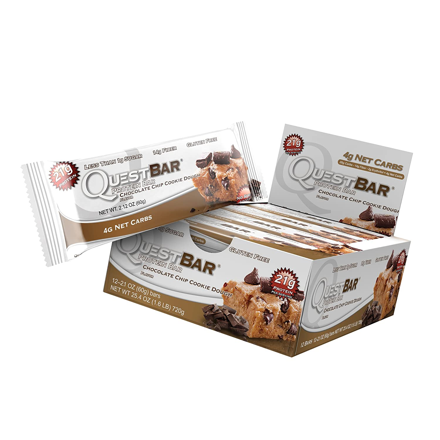 Quest Nutrition Protein Bar, Chocolate Chip Cookie Doug