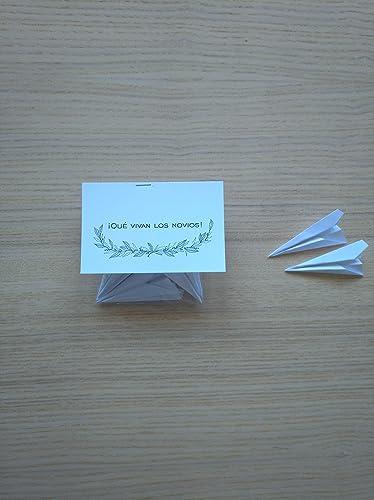 Bolsas de aviones de papel como confeti para boda (Pack de 20 unidades): Amazon.es: Handmade
