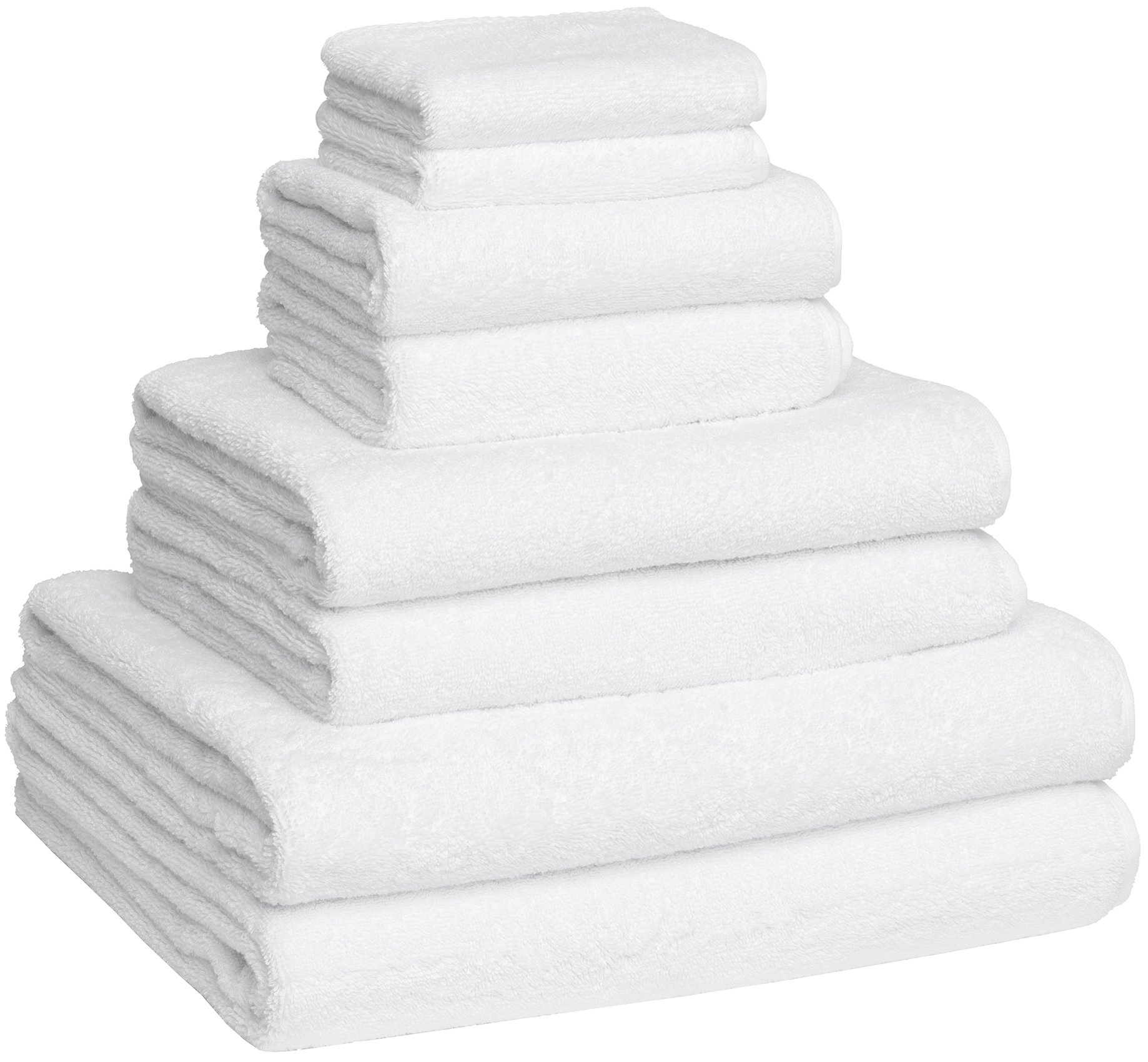 Fast Drying Extra Large Bath Towel Set, Decorative & Luxury Premium Turkish Cotton Towels for Clearance - Spa & Hotel Quality - Pack of 8 Including 2 Oversized Bath Sheets (30x60) - White