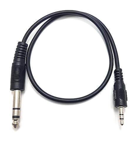 50cm Cable jack estéreo de 3,5mm to 6.35mm para guitarra de micrófono,