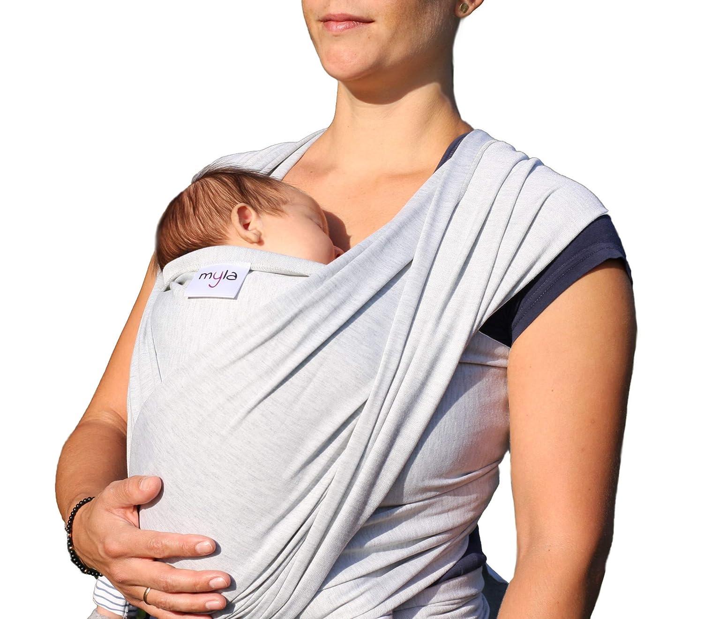 12kg Tragetuch f/ürs 1 weich /& anschmiegsam /… hoher Tragekomfort bis max 520cmx54cm myla elastisches Baby-Tragetuch passend f/ür jede Tr/ägergr/ö/ße Lebensjahr