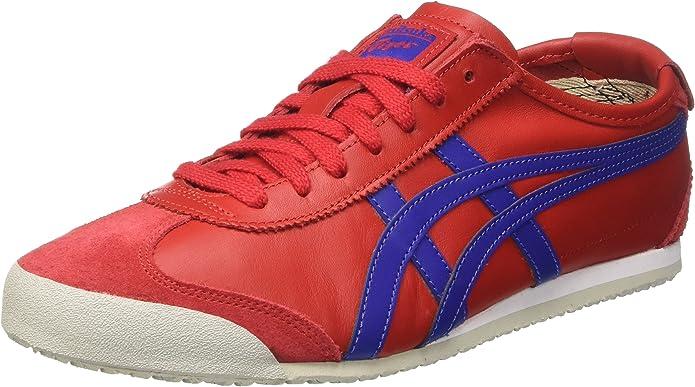 Asics Mexico 66 Sneakers Damen Herren Unisex Größe 36 – 48 Rot/Blau (True Red/Asics Blue)