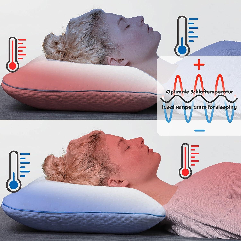 sofi oreiller ergonomique pour dormir sur le dos oreiller cervical m moire de forme housse. Black Bedroom Furniture Sets. Home Design Ideas