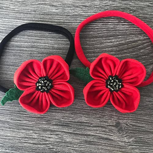Remembrance day british legion poppy flower headband amazon remembrance day british legion poppy flower headband mightylinksfo