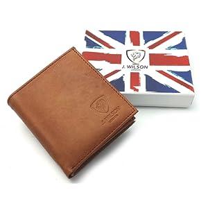 Designer RFID BLOCKING J Wilson Brown Véritable sac à main en cuir véritable de haute qualité en cuir