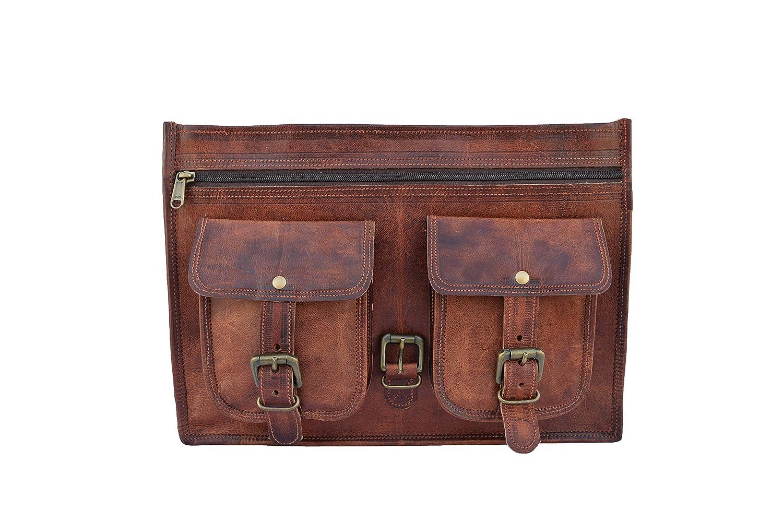 Leather Satchel 2PHB-14 Vintage Leather 13 Inch Laptop Briefcase Leather Laptop Messenger Shoulder Bag