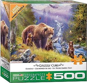 EuroGraphics Grizzly Cubs by Jan Patrik 500-Piece Puzzle