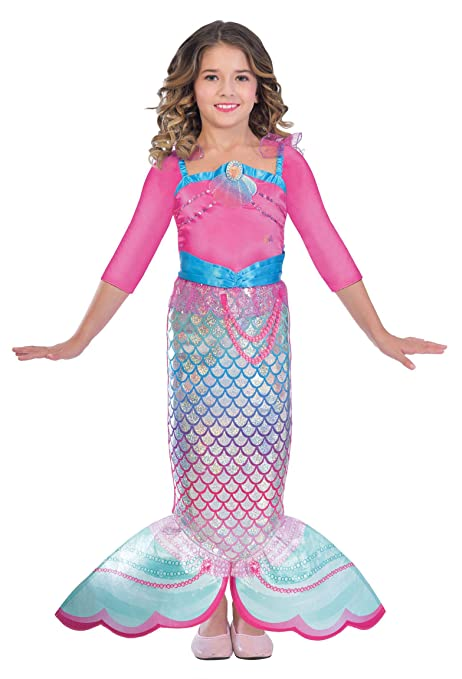 Amscan Dress Up 9903281 - Disfraz de sirena arco iris, para ...