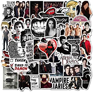 The Vampire Diaries Stickers Pack for Laptop Water Bottles 50pcs Classic Luggage Cars Notebook Motorcycle Bicycle Computer Decals