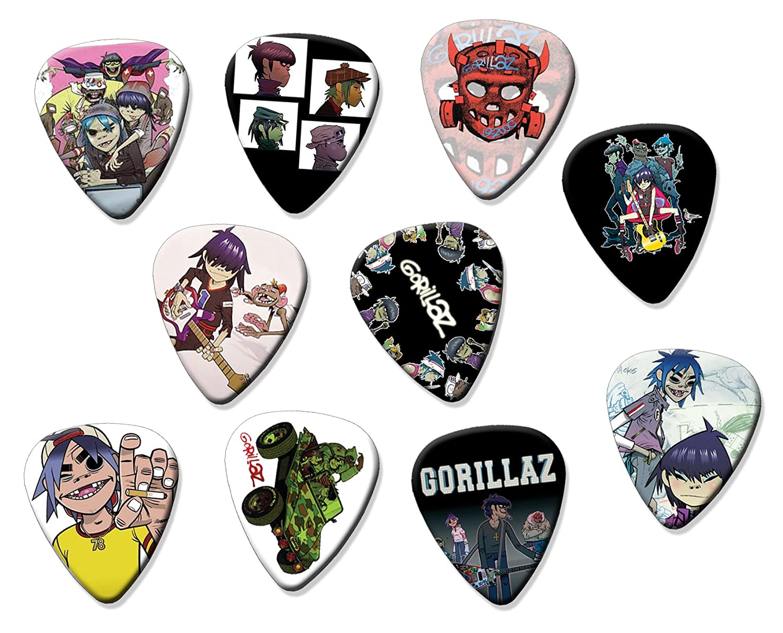 Gorillaz (Juego de 10 púas de guitarra eléctrica o acústica: Amazon.es: Instrumentos musicales