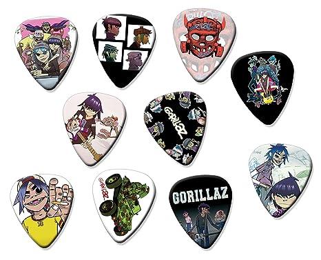 Gorillaz (Juego de 10 púas de guitarra eléctrica o acústica
