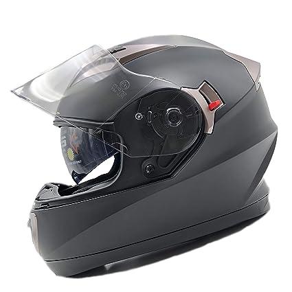 Amazon.es: NATHUT Casco Moto Integral ECE Homologado. Casco ...