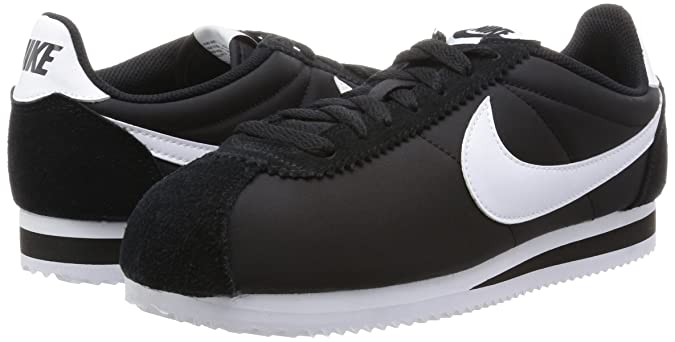 wholesale dealer 232ef 2d993 Amazon.com   Nike Men s Classic Cortez Nylon Casual Shoe (9.5) White Black    Fashion Sneakers