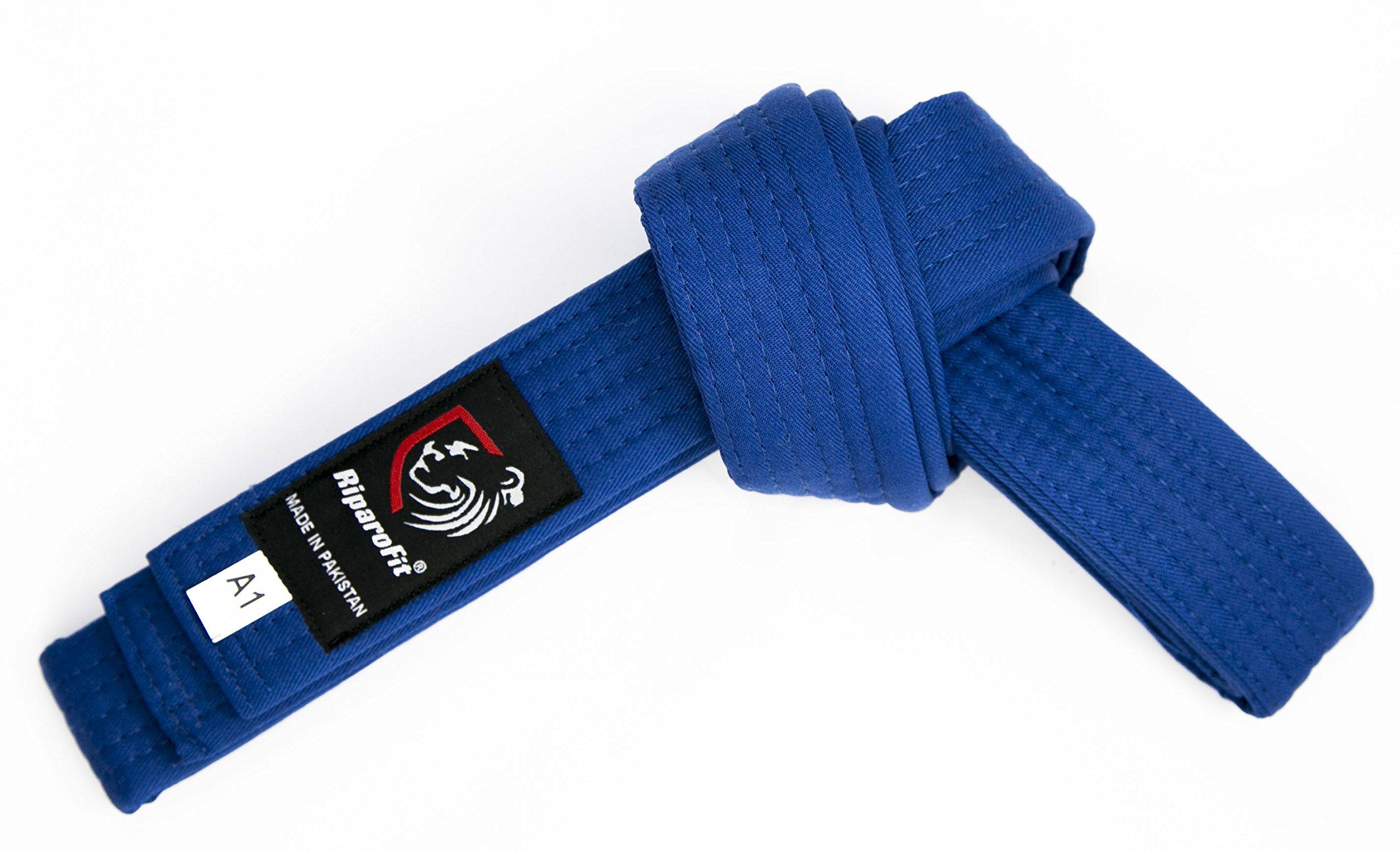 RiparoFit Brazilian Jiu Jitsu BJJ Pro Belts (Blue, A3) by RiparoFit