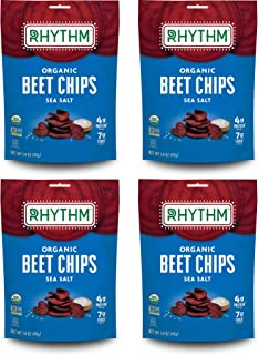 product image for Rhythm Superfoods Beet Chips, Sea Salt, Organic and Non-GMO, Vegan/Gluten-Free Superfood Snacks , 1.4 Oz (Pack Of 4)