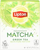 Lipton Magnificent Matcha Green Tea Bags, Pure Matcha 15 ct (Pack of 4)