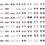 Hanpabum 60Pairs Acrylic Stud Earrings for Women Kids Colorful Cute Hypoallergenic Earrings Set
