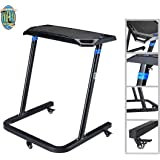 Portable Fitness Desk- Adjustable Height Workstation for Bikes or Standing-Work and Cycle Indoors on Laptop or Tablet by RAD Cycle Products