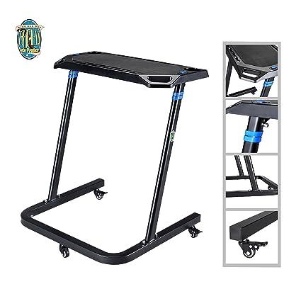 Amazoncom Portable Fitness Desk Adjustable Height Workstation