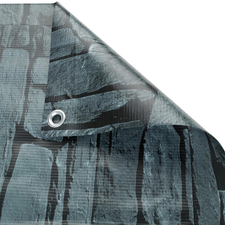 0,75 x 6 m | Crema | No.402702 Resistente a la Intemperie Varias tama/ños TecTake Protecci/ón Visual Balcones Revestimiento para balc/ón