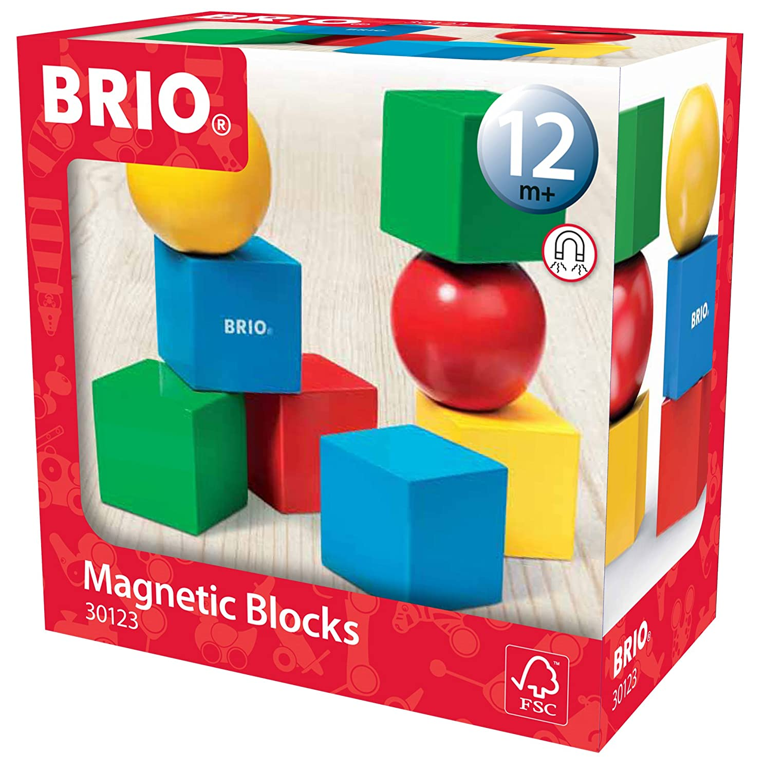 Magnetic block for records 40