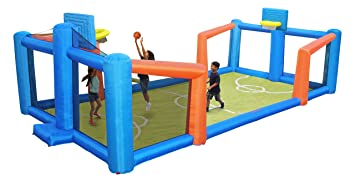 Amazon.com: Campo de fútbol inflable Sportspower ...