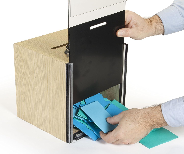 Amazon.com : Boleta de madera Buzón de Sugerencias Caja con cerradura de la llave, 8, 5 x 11 pulgadas sostenedor de la muestra, carga y descarga de boletas ...
